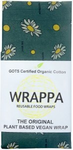WRAPPA Organic Cotton Reusable Plant Based Jumbo Single Food Wrap Busy Bees