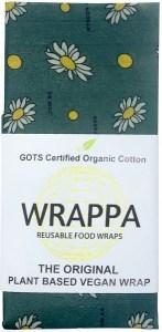 WRAPPA Organic Cotton Reusable Plant Based Jumbo Single Food Wrap Busy Bees