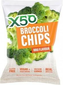 X50 Broccoli Chips BBQ  Vegan 10x60g