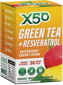 X50 Green Tea + Resveratrol Mango 30 Sachets