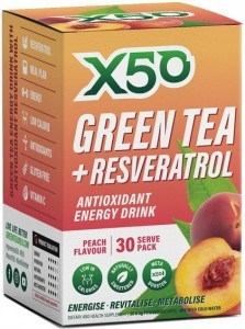 X50 Green Tea + Resveratrol Peach 30 Sachets