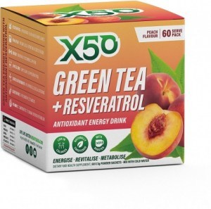 X50 Green Tea + Resveratrol Peach 60 Sachets