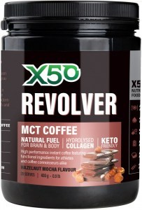 X50 Revolver MCT Coffee Hazelnut Mocha 400g