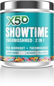 X50 Showtime Thermoshred 2 in 1 Sour Gummy  325g