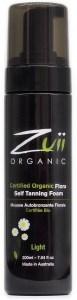 Zuii Organic Self Tan Foam Light 200ml